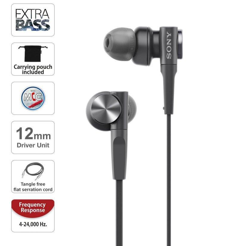 Sony MDR-XB55AP Extra Bass Earphones With Mic the Best Earphones under 2500 in India 2020