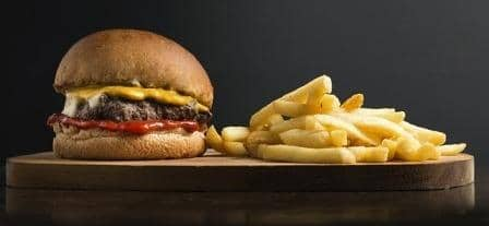 French fries and Burger cooked with Best Microwave Oven in India 2021