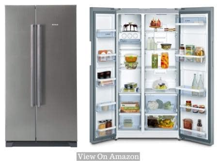 Best Refrigerator In India 2021, Bosch 618L (KAN56V40NE) Frost Free Side-by-Side Refrigerator