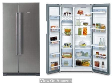 Best Refrigerator In India 2020, Bosch 618L (KAN56V40NE) Frost Free Side-by-Side Refrigerator