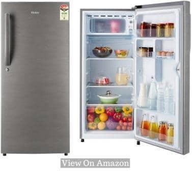 Best Single Door Refrigerator In India 2020, Haier 195L (HED-20FDS) 4-Star Single Door Refrigerator