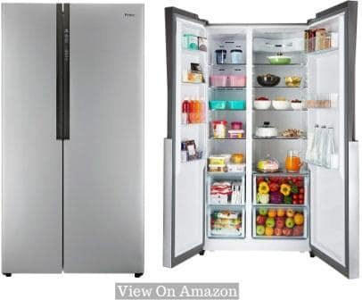 Best Refrigerator In India, Haier HRF 618 SS Frost-free 565L Side By Side Refrigerator