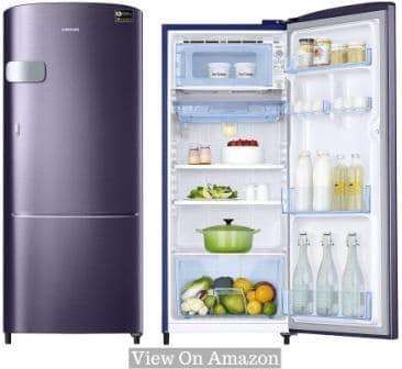 Best Single Door Refrigerator In India 2021, Samsung 192L (RR20M1Y2XUT) 5-Star Single Door Refrigerator