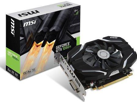 MSI Nvidia GeForce GTX 1050 Ti 4GB GDDR5 OC Edition PCI-E Graphics Card