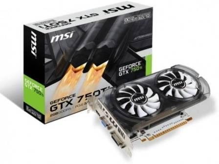 MSI NVIDIAGTX 750TI2 GBGDDR5 Graphics Card (OC Edition)