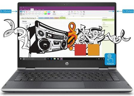 Best Touch Screen Laptop under 50000, HP Pavilion x360 14-inch Touchscreen Laptop