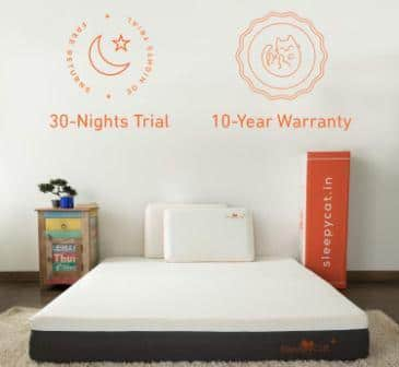 SleepyCat Plus 8-Inch Gel Memory Foam Mattress is the Best Mattress in India 2019