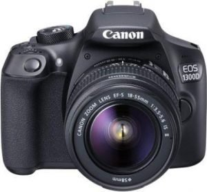 Canon EOS 1300D 18MP Digital SLR Camera with EF-S 18-55mm Lens
