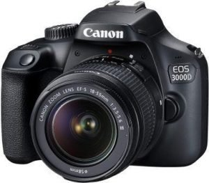 Canon EOS 3000D 18MP DSLR Camera with EF-S 18-55mm Lens