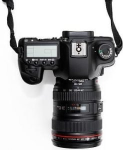Topical view of DSLR camera
