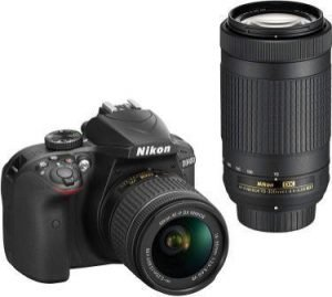 Nikon D3400 with 18-55 mm Lens & 70-300mm Lens