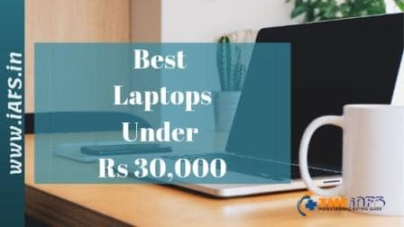 best laptop under 30000 in india 2019