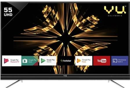 Vu Official 55 Inch Ultra HD Smart Android LED TV under 40000
