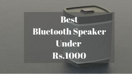Best Bluetooth Speaker Under Rs 1000