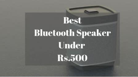 Best Bluetooth Speaker Under Rs 500