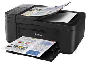 Canon E4270 All-in-One Ink Efficient WiFi Printer with FAX, ADF, Duplex Printing