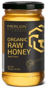 MERLION NATURALS Multi-flora Organic Raw Honey