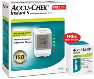Accu-Chek Instant S Glucometer with Free Test Strips